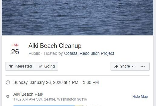 Alki Beach Cleanup Jan 26th